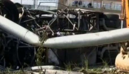В Турции загорелся автобус с 40 пассажирами
