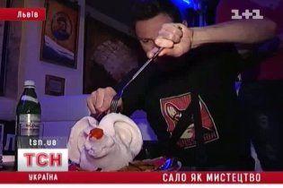 Во Львове открылся музей-ресторан сала