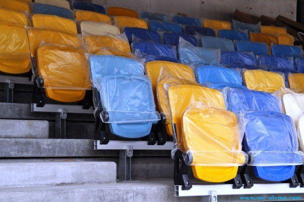 """На """"Олимпийском"""" установлены первые 50 сидений"""