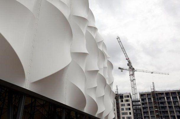 В Лондоне открыли необычную баскетбольную арену к Олимпиаде 2012 года