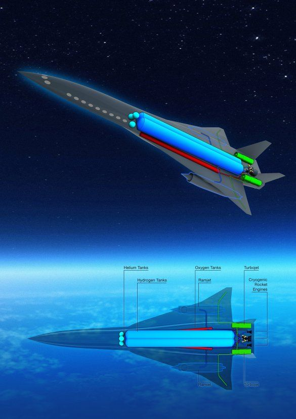 У Європі показали ракетоплан, який долетить від Токіо та Парижа за 2,5 години