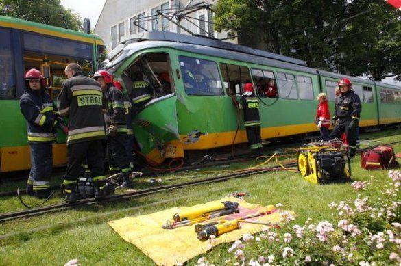Аварія трамваїв, Познань_1