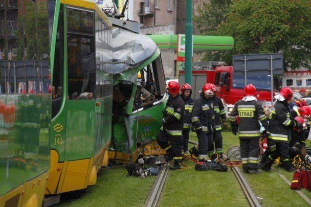 У Польщі зіткнулися два трамваї, 40 людей постраждали