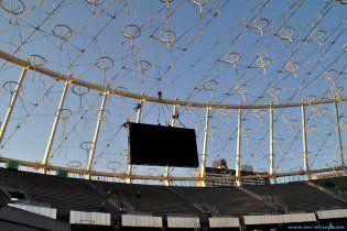 На головній арені Євро-2012 встановлено перше гігантське відеотабло