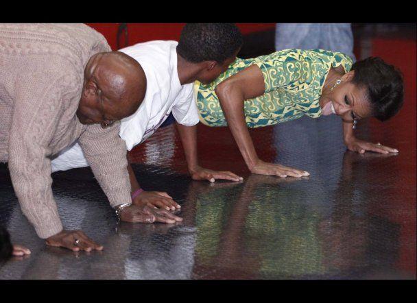 Мішель Обама на публіці віджалася від підлоги