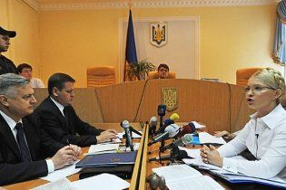 Тимошенко отказалась задавать вопросы Ющенко