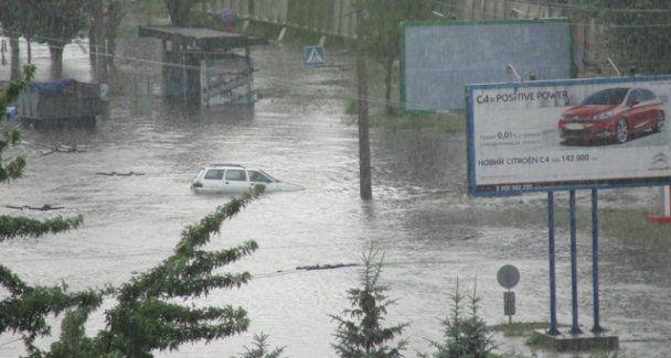 Сильные дожди затопили Черкассы