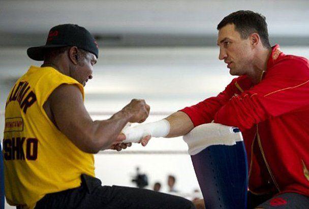 Открытая тренировка Кличко и Хэя перед боем