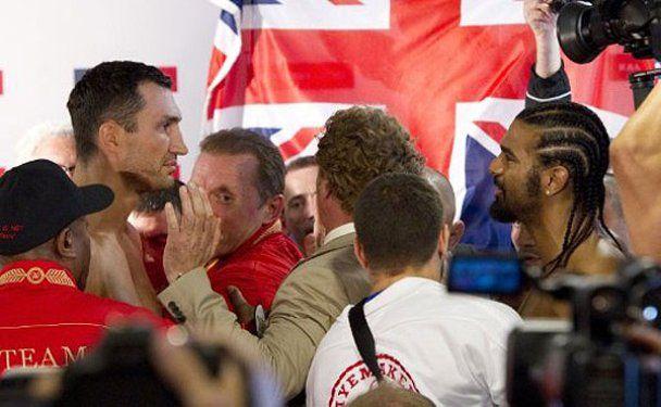 Кличко победил Хэя на официальном взвешивании перед боем