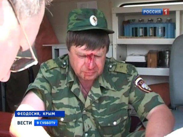 Кровавая драка в Крыму: спецназ разогнал дубинками русских казаков