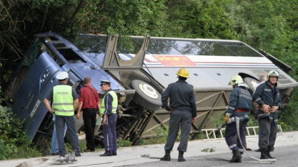Український автобус перекинувся в Болгарії: одна туристка загинула, поранені діти