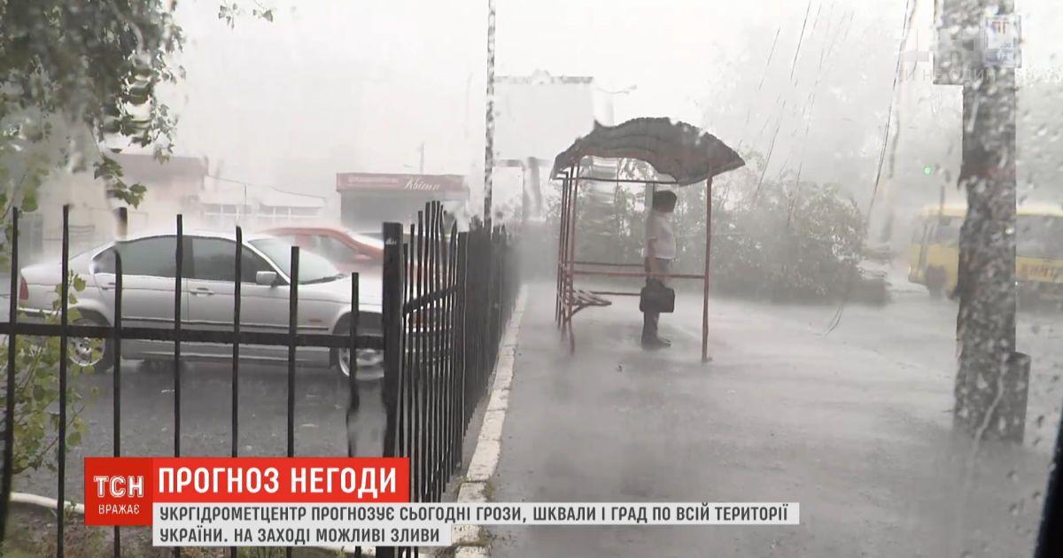 Штормовое предупреждение: в Украине прогнозируют грозу, град и порывистый ветер