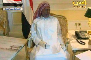 Президент Йемена показал свои раны