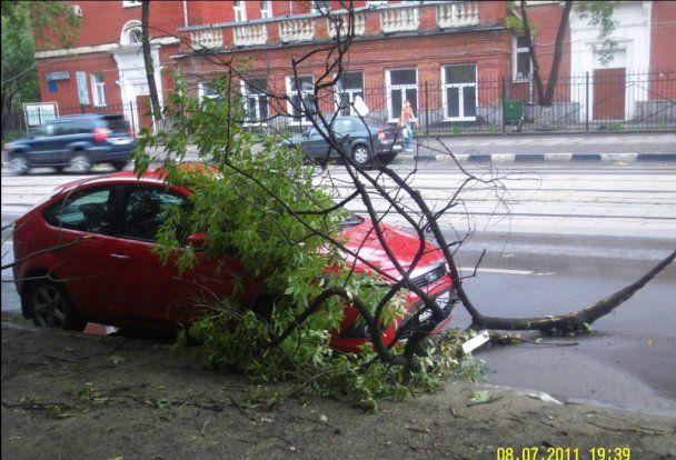 На Москву обрушилася злива зі снігом