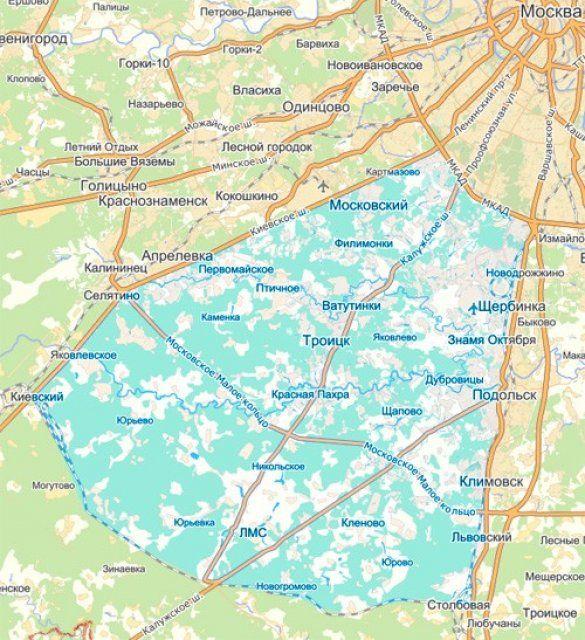Територія Москви. Розширення