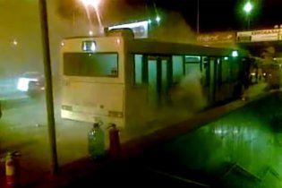 У Києві горів пасажирський автобус