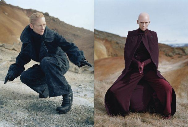 Тильда Суинтон в образе тибетского монаха снялась для W Magazine