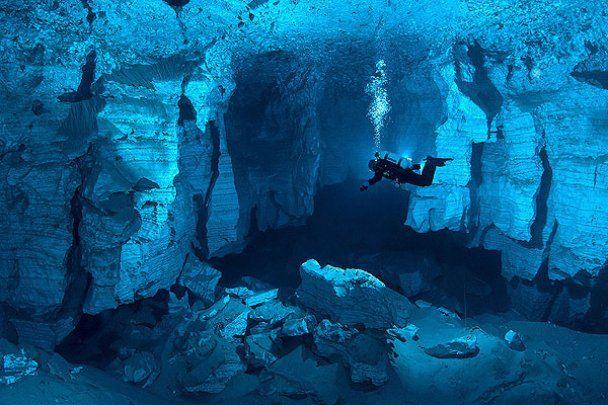 Удивительная и самая длинная в России подводная пещера