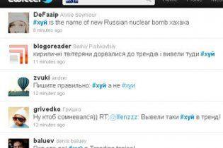Русские маты возглавили рейтинг в Twitter