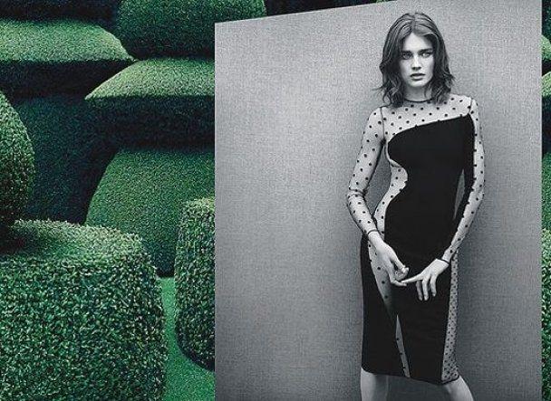 Стелла Маккартни одела на Водянову прозрачное платье