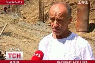 На Прикарпатье оползни могут накрыть десятки домов
