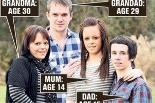 Британец стал дедушкой в 29 лет