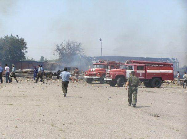 В пригороде Бишкека взорвался склад пиротехники