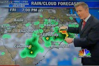 Ведущий прогноза погоды проглотил муху в прямом эфире (видео)
