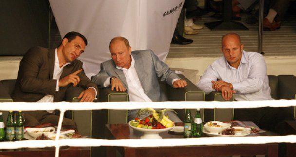 Кличко разом з Путіним і Ємельяненком подивився бої ММА