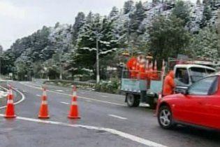 У столиці Нової Зеландії вперше за 40 років випав сніг