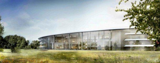 """Новый масштабный проект Apple: штаб-квартира в виде """"летающей тарелки"""""""