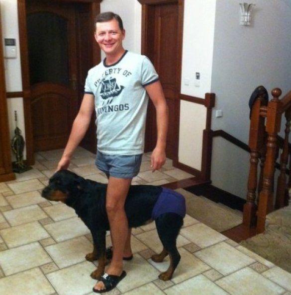 Олег Ляшко та його собака_2
