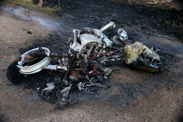 Жахлива ДТП під Одесою: мотоцикліст згорів живцем
