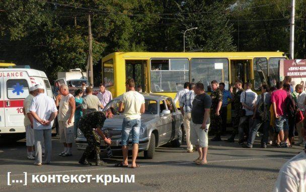 У Сімферополі водій маршрутки знепритомнів і збив людей на переході