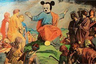 Российский художник нарисовал Микки Мауса в образе Иисуса