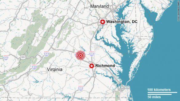 Землетрус на східному узбережжі США