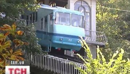 Киевский фуникулер в аварийном состоянии