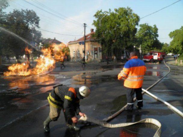 Вибух газопроводу залишив Ужгород без газу, світла і води