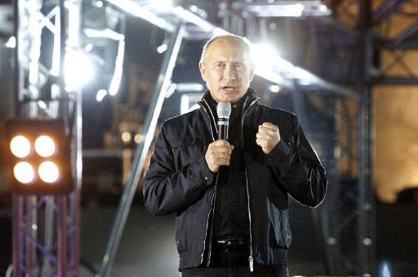 """Путин потусил с """"волками"""" на байк-шоу в Новороссийске"""