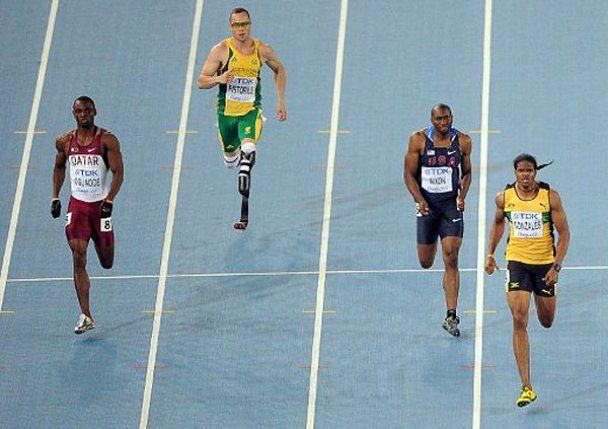 Бігун з ампутованими ногами на Чемпіонаті світу