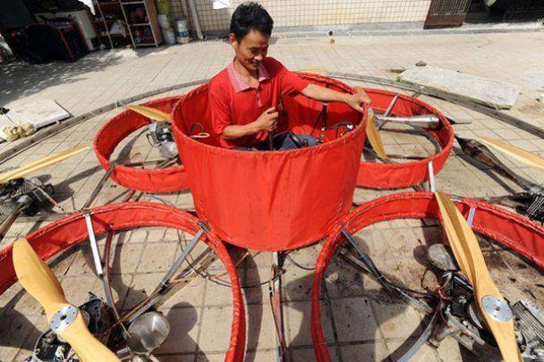 Китайський фермер побудував літаючу тарілку