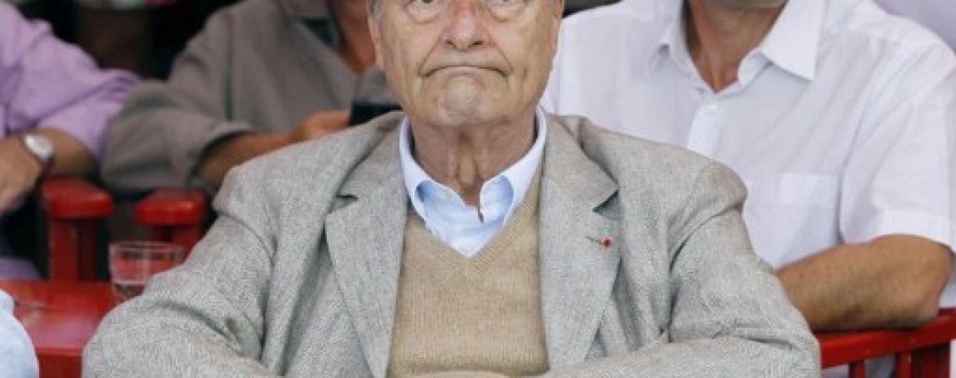Екс-президента Франції Ширака госпіталізували з легеневою інфекцією - ЗМІ