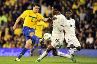 Бразилия минимально обыграла сборную Ганы в Лондоне (видео)