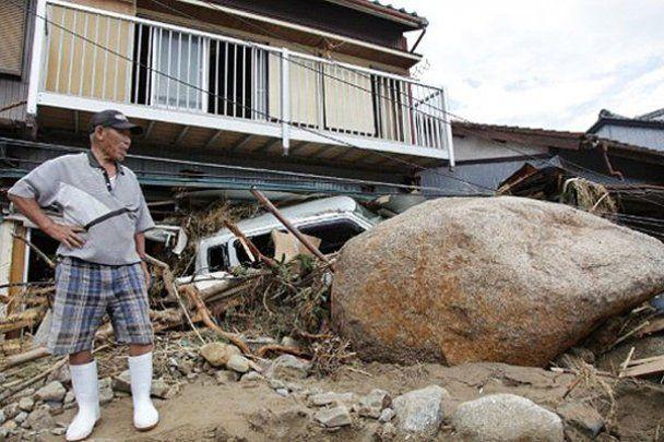 """Тисячі японців потерпають від тайфуну """"Талас"""""""