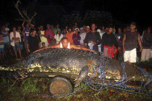 На Філіппінах впіймали мега-крокодила завдовжки майже 7 метрів