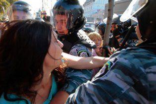 Фанаты Тимошенко устроили милиции холодный душ и избили бутылками