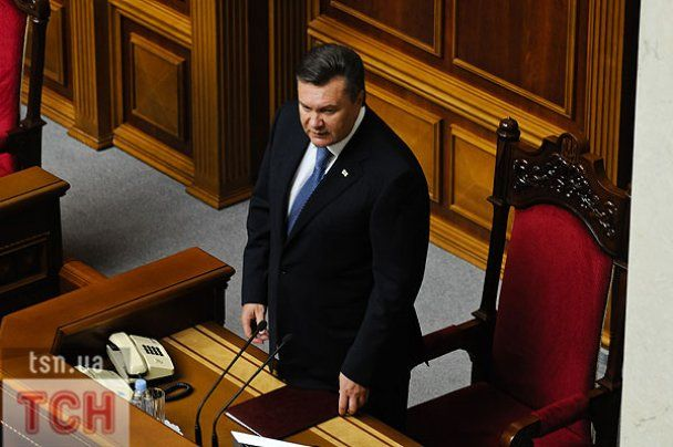 БЮТ бойкотував виступ Януковича в Раді