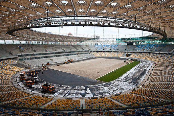 Главную арену чемпионата Евро-2012 в Киеве завершили на 95%