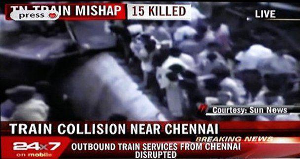Залізнична катастрофа на півдні Індії, десятки жертв