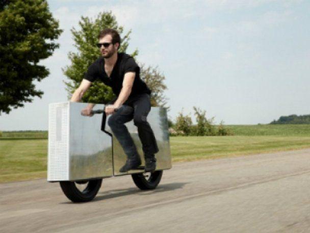Американец создал бесшумный и почти невидимый мотоцикл